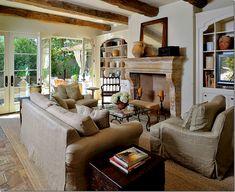 stone fireplace!