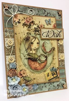 Made for Making Cards Magazine using Mirabelle Collection. More info on my blog - http://kittyskrafty.blogspot.co.uk/2014/04/mirabelle-wish.html
