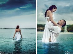 Sara & Paul's NOW Jamaican #destination #wedding  trash the dress