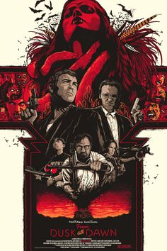 "From Dusk till Dawn by Matt Ryan Tobin / Twitter / Tumblr 24"" X 36"" 7 color screen print. Private commission, NFS."