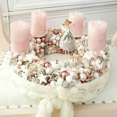 Stunning Christmas Sweater Wreath Advent Candles Decoration Ideas - Page 20 of 55 - Chic Hostess Nektek is tetszik?Stunning Sweater Wreath With Candles And Lovely Accents; Rose Gold Christmas Decorations, Christmas Advent Wreath, Christmas Wreaths To Make, Christmas Candles, Christmas Centerpieces, Xmas Decorations, Christmas Crafts, Christmas Christmas, Advent Candles