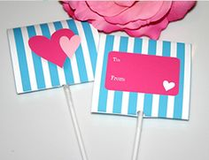 FREE printable Valentine Lollipop Cover Card by Sweet Pop Studio