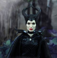 OOAK Angelina Jolie as Disney's Maleficent - custom doll repaint by Noel Cruz