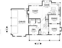 BHG-4340 1st floor - nice layout, like the fireplaces. I'd turn the half bath into a full so the den can double as a guest room.