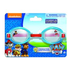 PAW PATROL Swimming Goggles Adjustable Pool Swim Bath Boys Girls Kids Ages 4+     eBay
