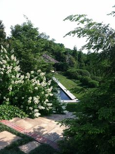 Atop the arching staircase that lead to the pool terrace