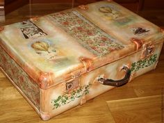 """Купить Чемодан """"Bon Voyage"""" - чемодан, чемоданчик, винтажный стиль, винтаж, короб для хранения, ретро"""