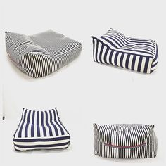 beanbags floor pillows and pouf by pozitivebeanbags on Etsy