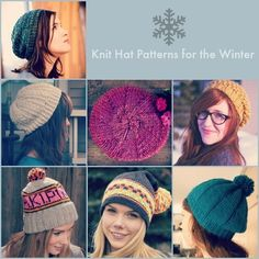 66 Knit Hat Patterns for the Winter | These beautiful knit hat patterns are perfect for chilly winter days.