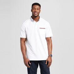 Men's Big & Tall Club Polo Shirt White 4XB Tall - Merona