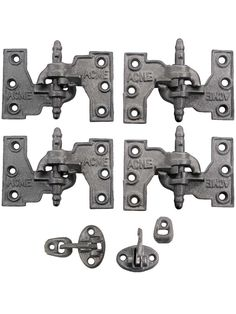 """""""Acme"""" Cast Iron Mortise Shutter Hinges - 4 1/2"""" x 2 13/16"""" 