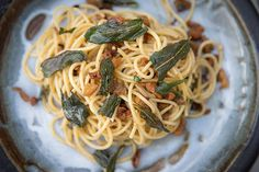Browned butter and sage spaghetti recipe, Herald on Sunday – Pangritata is basically crispfried breadcrumbs which pair extremely well with pasta dishesampnbsp - Eat Well (formerly Bite) Chilli Flakes, Spaghetti Recipes, Classic Italian, Brown Butter, Bread Crumbs, Pasta Dishes, Noodles, Sage, Crisp