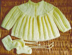 Newborn baby infant girl boy hand knitted set by bebbyjumpers