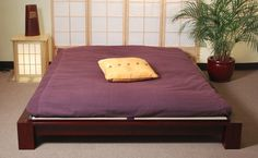 In today's stressful, hectic world, it can be good to take a break. Indulge in the simple pleasures afforded by the Shiki Futon Sleeping Mat from Haiku Designs, seen here on our Japanese Raku Tatami Bed. Futon Couch, Futon Mattress, Japanese Bed Frame, Japanese Futon, Japanese Mattress, Full Size Futon, Small Futon, Modern Design, Consoles