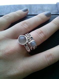 PANDORA Moonstone Ring Stack♡ Bijoux et charms à retrouver sur www.bijoux-et-charms.fr