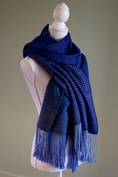 Handwoven thick scarf made with Qiviut, Cashmere and Silk. Thick, warm, and sooooo soft!