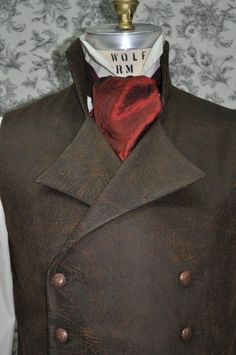 Mens Vest-- Victorian--Steampunk-- Sweeney Todd--Made To Order--Custom Optional---Made to Personal Measurements. $135.00, via Etsy.