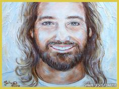 Alluring Jesus Smiling Images PICTURES OF JESUS Showing The Beauty Of Christ, images of jesus smiling, jesus smiling images. Jesus Laughing, Jesus Smiling, Pictures Of Jesus Christ, Religion Catolica, Jesus Painting, Jesus Face, Prophetic Art, Light Of The World, Jesus Is Lord
