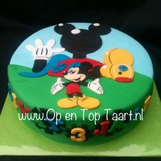 Mickey Mouse Clubhouse Cake (Mickey Mouse Clubhuis taart)