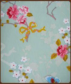 Pip: behang Chinese rose