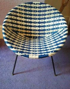 // Basket Chair - had one in my room as a kid that my Mum bought second-hand - mine was orange though. Love Chair, Decoration Inspiration, Retro Furniture, Mid Century Furniture, The Good Old Days, Childhood Memories, Wicker, Rattan, Retro Vintage