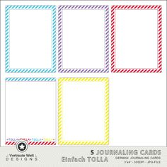 FREE Download Journaling Cards in TOLLA-Farben :.