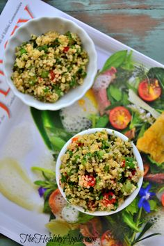 The Best Quinoa Salad: Cilantro, Red Bell Pepper and Lemon Balsamic Dressing {Gluten-Free, Dairy-Free, Soy-Free, Vegan} #glutenfree