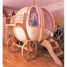 Coolest kids bed ever!...I would have LOVED this as a kid..talk about feeling like a princess  :)