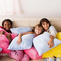 Is she planning a sleepover? Check out the Sleepover Survival Guide, to make sure you're ready. Slumber Party Games, Pj Party, Slumber Parties, House Party, Party Time, Sleepover Activities, Neon Party, Kids House, Party Planning