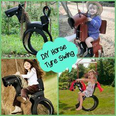 diy horse tyre swing