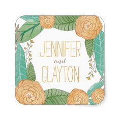 Shop Painted Florals Favor Sticker created by berryberrysweet. Elegant Wedding Invitations, Wedding Invitation Cards, Wedding Themes, Custom Invitations, Wedding Ideas, Wedding Stickers, Custom Stickers, Florals, Painting