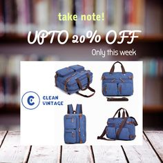 20e87cdeb Messenger Bag Backpack | Convertible Canvas Leather Laptop + Travel Bag for  Men/Women #. Clean Vintage