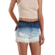 "Refuge ""Vintage Cheeky"" Ombre Denim Shorts: Charlotte Russe"