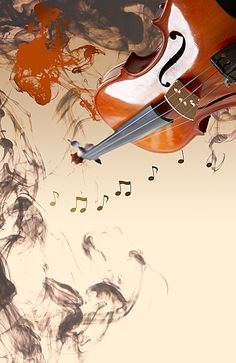 Elegant classical violin music poster background material, Creative Background Violin, Classical Music Poster Background, Ink Chinese Style Background, Background image