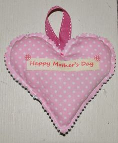 Here is another quick and easy gift to make for Mothers Day. A lovely lavender heart with a little message on the back.  Please note that ...