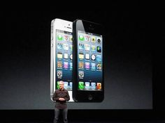 Apple CEO Tim Cook presents the new iPhone 5 at an event in San Francisco on Sept. 12.