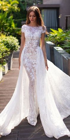 30 Fall Wedding Dresses With Charm ❤ fall wedding dresses sheath with cap slee. 30 Fall Wedding Dresses With Charm ❤ fall wedding dresses sheath with cap sleeves floral appliques with overskirt millanova Civil Wedding Dresses, Princess Wedding Dresses, Colored Wedding Dresses, Designer Wedding Dresses, Bridal Dresses, Flower Wedding Dresses, Autumn Wedding Dresses, Sheath Wedding Dresses, Wedding Dress Tea Length