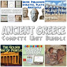 Updated Ancient Greece lesson plan bundle! Over 30 amazing resources like interactive notebooks, PowerPoints, projects, and more all on Ancient Greece!