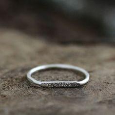 Andrea Bonelli - signet stardust ring - argentium silver $30.00