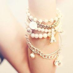 Paris Love Bracelet Stack