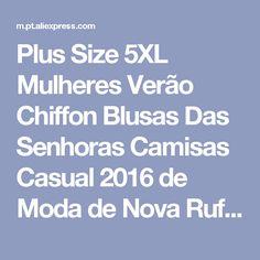 Plus Size 5XL Mulheres Verão Chiffon Blusas Das Senhoras Camisas Casual 2016 de Moda de Nova Ruffled Flor Sem Mangas Pescoço Mulheres Tops Loja Online   aliexpress móvel