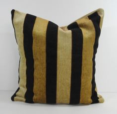 Designer Pillow Cover, Camel, Brown, Black, 16 x 16, Throw Cushion Cover, Stout Brothers