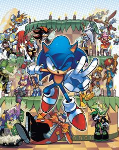Original cover art for Sonic Super Special Magazine The final cover had been altered drastically and this version was used for advertisements instead. Sonic The Hedgehog, Shadow The Hedgehog, Sonic Book, Blaze The Cat, Mundo Dos Games, Sonic Funny, Sonic Mania, Sonic Franchise, Sonic Adventure