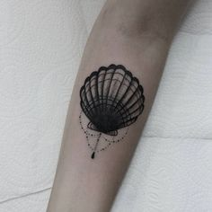 Ornamental Shell Tattoo by Mac