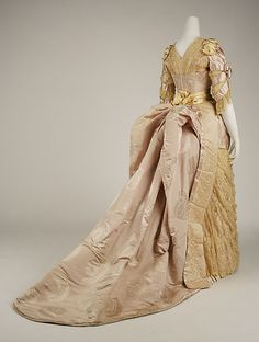 Evening Dress by House of Worth (1887-1889) Back