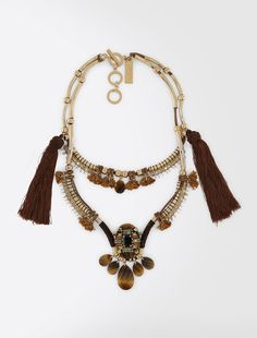 Tassel necklace, brown - Weekend Max Mara Product page