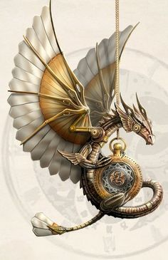 steampunk dragon by anne stokes - Fantasy Art by Anne Stokes Steampunk Kunst, Moda Steampunk, Style Steampunk, Steampunk Design, Steampunk Fashion, Steampunk Artwork, Steampunk Wings, Victorian Steampunk, Steampunk Necklace
