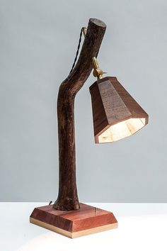desk lamp mixed hardwoods