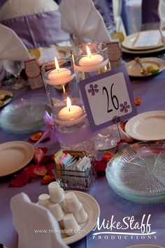 centerpiece idea....framed table number?