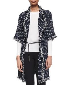B2YUP St. John Collection Glazed Linear Tweed Knit